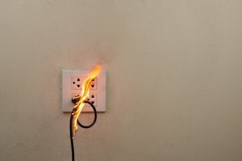 commercial electrical fire hazard