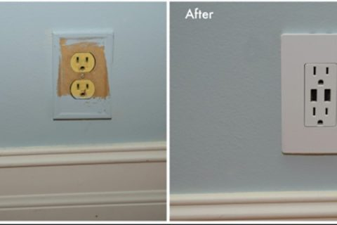 A circuit outlet repaired by BG Electric Service LLC.