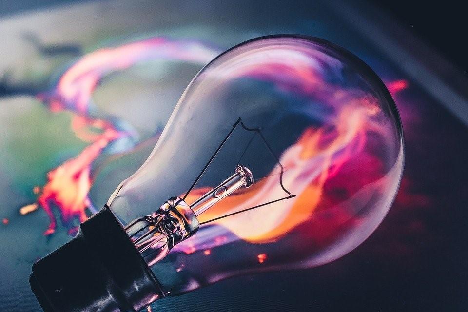 An incandescent bulb.