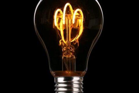 A lit up bulb